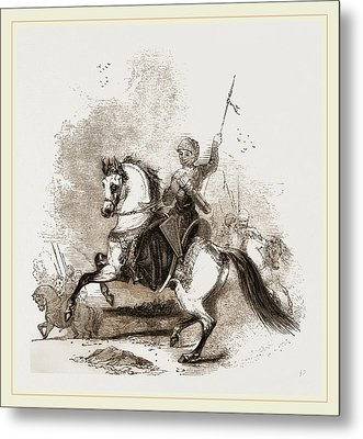 Turkish War Horse Metal Print by Litz Collection