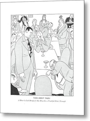 Turn-about Tales  A Diner In Jack Dempsey's Bar Metal Print
