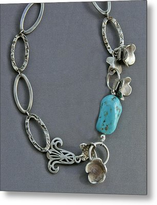 Turquoise Metal Print by Mirinda Kossoff