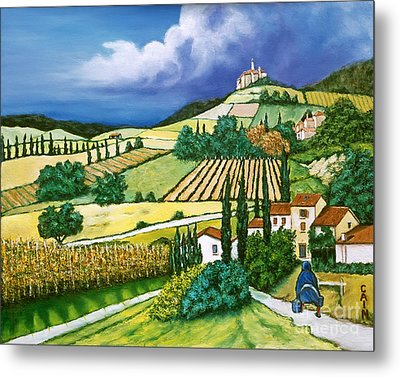 Tuscan Fields Metal Print by William Cain