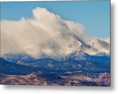 Twin Peaks Winter Weather View  Metal Print by James BO  Insogna