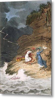 Two Early Regency Belles Caught Metal Print by James Green