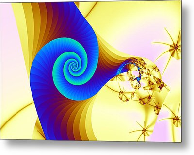 Two Kinds Of Spiral Metal Print by Mark Eggleston