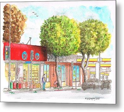 Two Tween Trees In Santa Monica Blvd - Santa Monica - Ca Metal Print by Carlos G Groppa