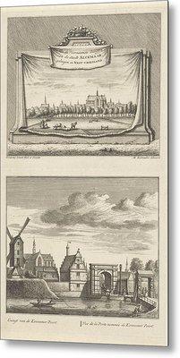 Two Views In Alkmaar With The Great Church Metal Print