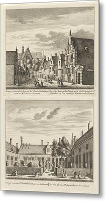 Two Views In Alkmaar With The Plague House And St Elisabeth Metal Print
