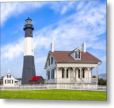 Tybee Island Lighthouse At Dawn Metal Print by Mark E Tisdale