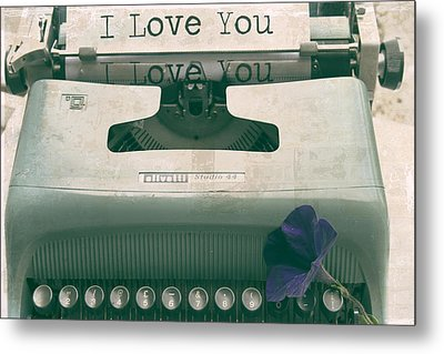 Typewriter Love Metal Print