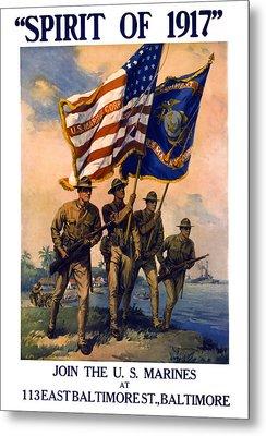U. S. Marines Spirit Of 1917 Metal Print