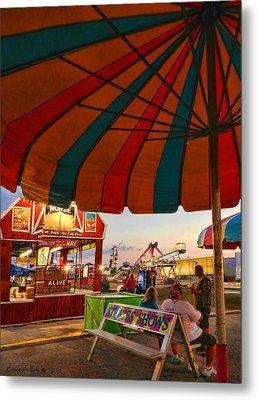 Umbrella View Metal Print by Grace Dillon