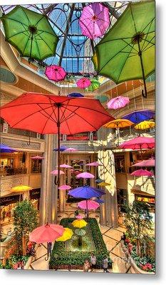 Umbrellas At Palazzo Shops Metal Print by Amy Cicconi