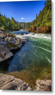 Metal Print featuring the photograph Umpqua River by David Millenheft