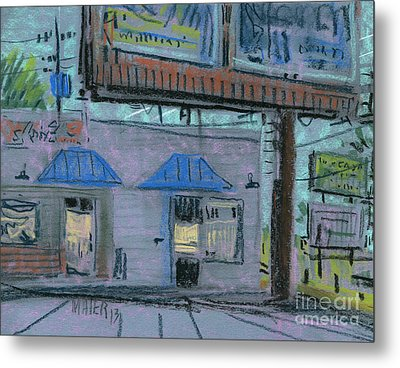 Under The Billboard Metal Print by Donald Maier