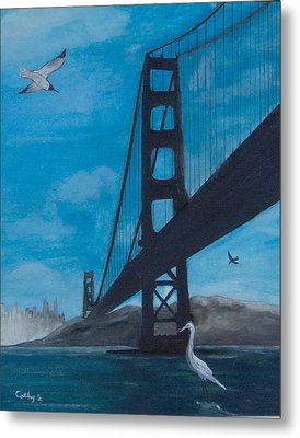 Under The Golden Gate Bridge Metal Print