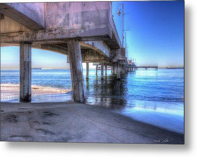 Under The Pier Metal Print by Heidi Smith