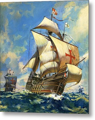 Unidentified Sailing Ships Metal Print by Andrew Howat
