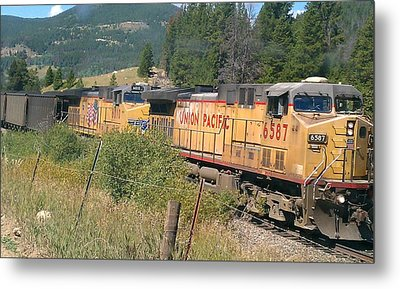 Metal Print featuring the photograph Union Pacific 6587 by Fortunate Findings Shirley Dickerson