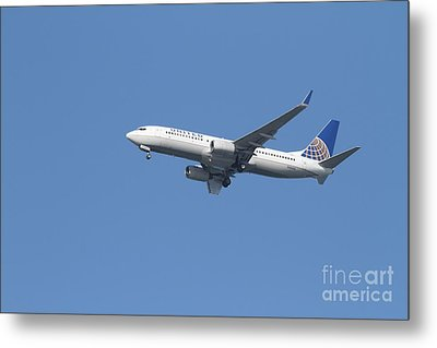 United Airlines Jet 7d21942 Metal Print by Wingsdomain Art and Photography