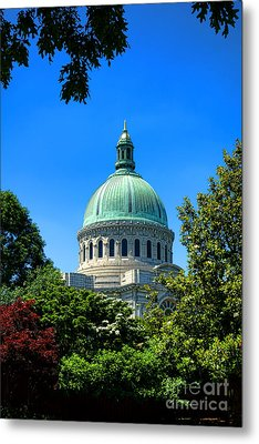 United States Naval Academy Chapel Metal Print by Olivier Le Queinec