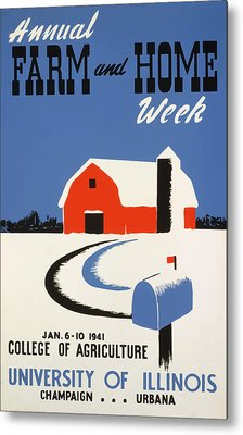 Metal Print featuring the painting University Of Illnois Farm And Home Week by American Classic Art