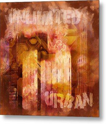 Unlimited Urban Metal Print by Lutz Baar