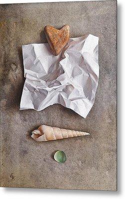 Unwritten Letter 1 Metal Print by Elena Kolotusha