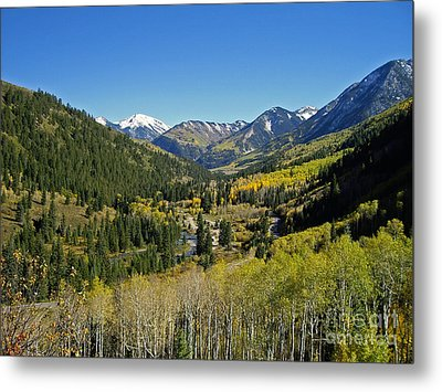 Metal Print featuring the photograph Upper Crystal River Valley by Eric Rundle