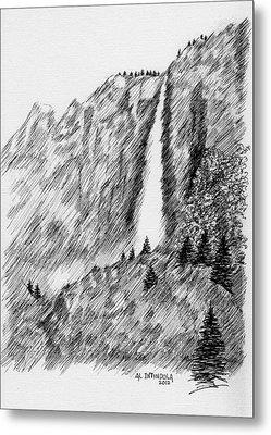 upper falls in Yosemite Metal Print