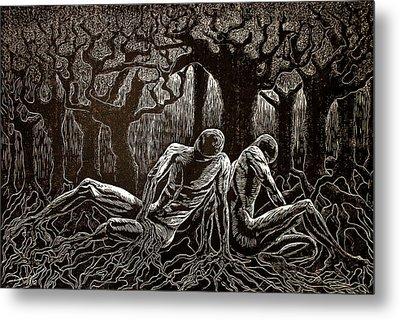 Uprooted Metal Print by Maria Arango Diener