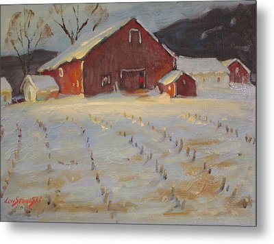 Metal Print featuring the painting Upstate by Len Stomski