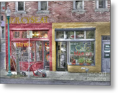 Urban Mercyseat Oil Painting Metal Print by Liane Wright