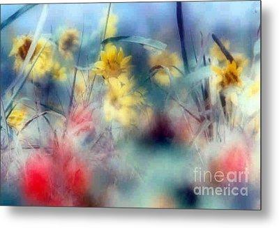 Urban Wildflowers Metal Print by Michael Hoard