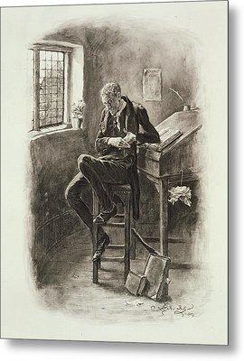 Uriah Heep, From Charles Dickens A Metal Print by Frederick Barnard