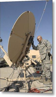 U.s. Air Force Staff Sergeant Assembles Metal Print