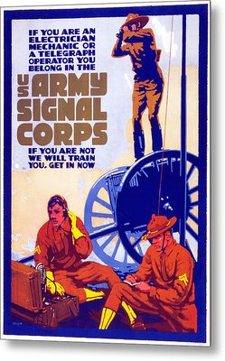 Us Army Signal Corps, 1917-20 Metal Print by Horace Devitt Welsh
