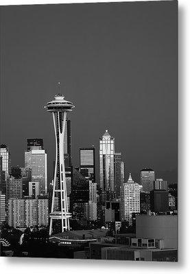 Usa, Washington State, Seattle, Space Metal Print by Adam Jones