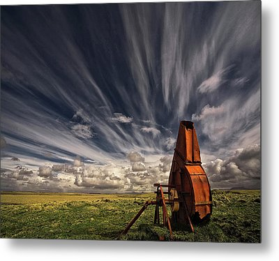 Used And Forgotten Metal Print