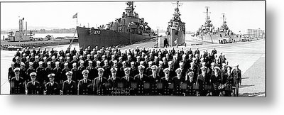 Uss Charles Ausburne Metal Print by Fred Schutz Collection