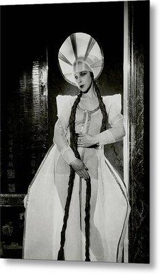 Valentina Koshubaas The Bride In Les Noces Metal Print by Cecil Beaton