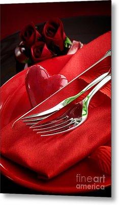 Valentine's Day Dinner Metal Print by Mythja  Photography