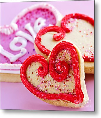 Valentines Hearts Metal Print by Elena Elisseeva