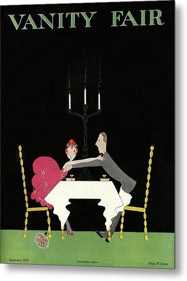 Vanity Fair Cover Couple Grabbing Each Other Metal Print by A H Fish