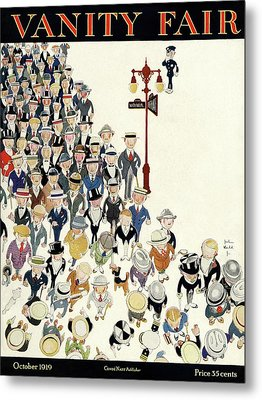 Vanity Fair Cover Featuring A Crowd Metal Print by John Held Jr