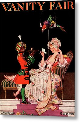 Vanity Fair Cover Featuring A Lady On A Chaise Metal Print