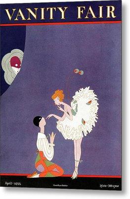 Vanity Fair Cover Featuring Dancers Flirting Metal Print by A. H. Fish