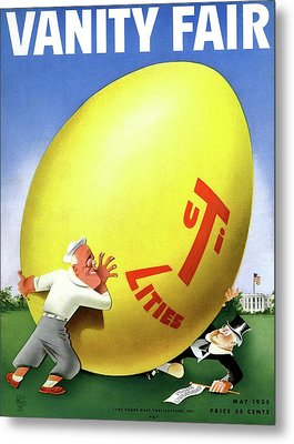 Vanity Fair Cover Featuring Easter Egg Rolling Metal Print by Paolo Garretto