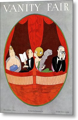 Vanity Fair Cover Featuring Two Couples Metal Print by A. H. Fish