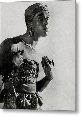 Vaslav Nijinsky In Costume Metal Print