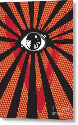 Vendetta2 Eyeball Metal Print