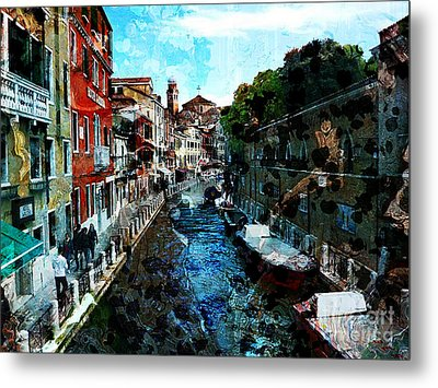 Venice Canal Metal Print by Claire Bull